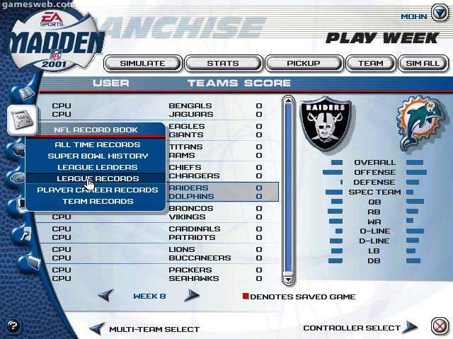Madden NFL 2001 Screenshots Archiv - Screenshots - Bild 7