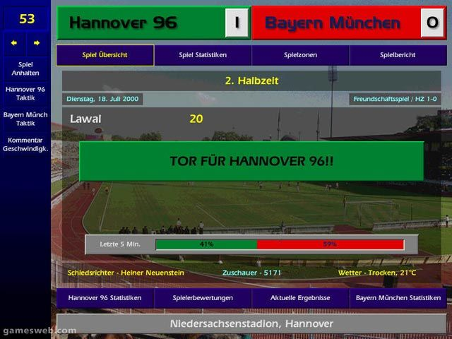 Meistertrainer 00/01 - Screenshots - Bild 2