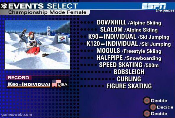 ESPN International Winter Games  Archiv - Screenshots - Bild 2