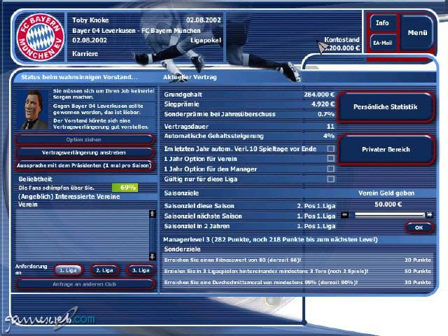 Fussball Manager 2002 - Screenshots - Bild 4