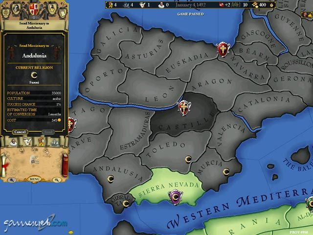 Europa Universalis 2  Archiv - Screenshots - Bild 3