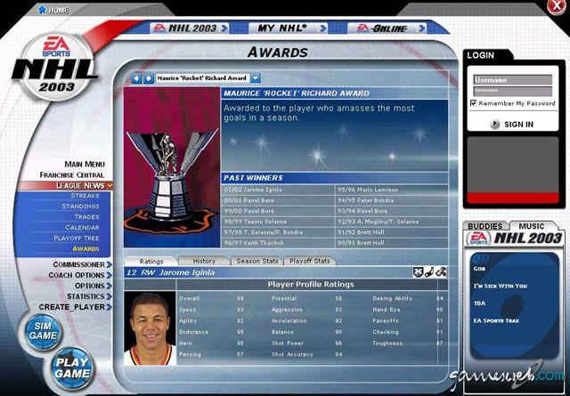 NHL 2003  Archiv - Screenshots - Bild 2