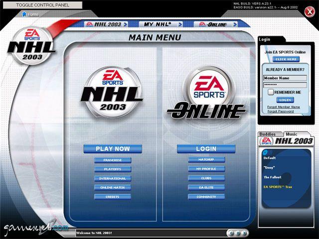 NHL 2003 - Screenshots - Bild 2
