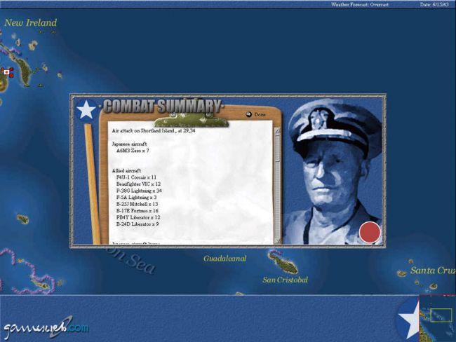 Uncommon Valour: Campaign for the South Pacific  Archiv - Screenshots - Bild 6