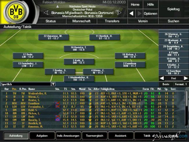 Fussball Manager 2004 - Screenshots - Bild 5