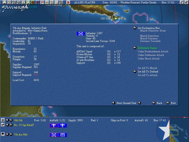 Uncommon Valour: Campaign for the South Pacific - Screenshots - Bild 2