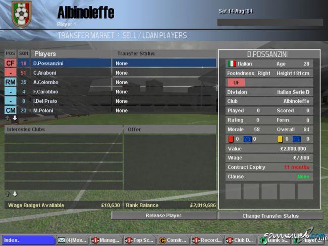 BDFL Manager 2005 Pro Edition  Archiv - Screenshots - Bild 16