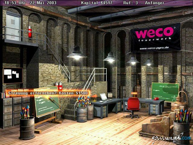 Pyro Tycoon  Archiv - Screenshots - Bild 2