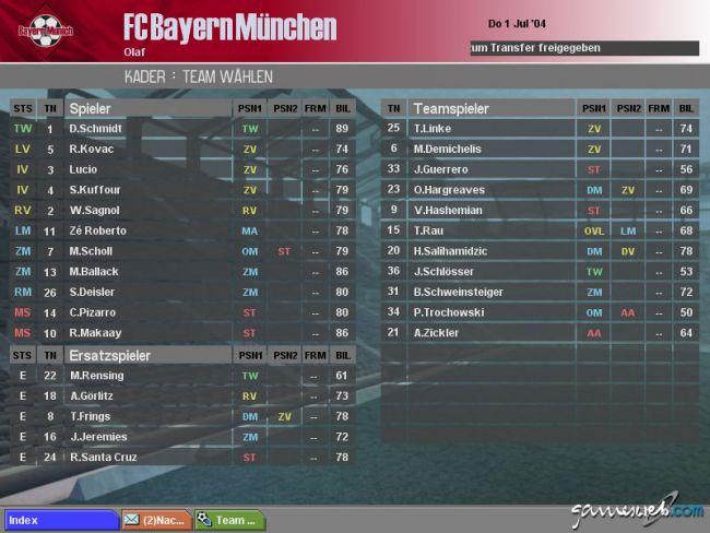 BDFL Manager 2005 Pro Edition  Archiv - Screenshots - Bild 3
