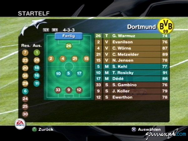 UEFA Champions League 2004-2005  Archiv - Screenshots - Bild 7