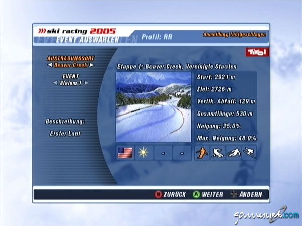 Ski Racing 2005 feat. Hermann Maier  Archiv - Screenshots - Bild 6