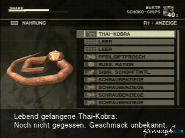 Metal Gear Solid 3: Snake Eater  Archiv - Screenshots - Bild 5