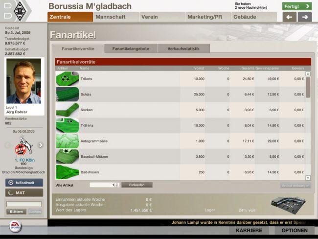 Fussball Manager 06  Archiv - Screenshots - Bild 19