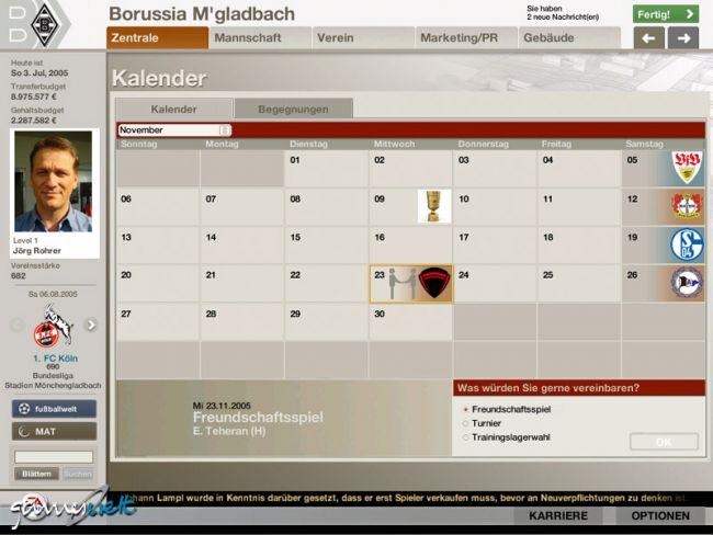 Fussball Manager 06  Archiv - Screenshots - Bild 20