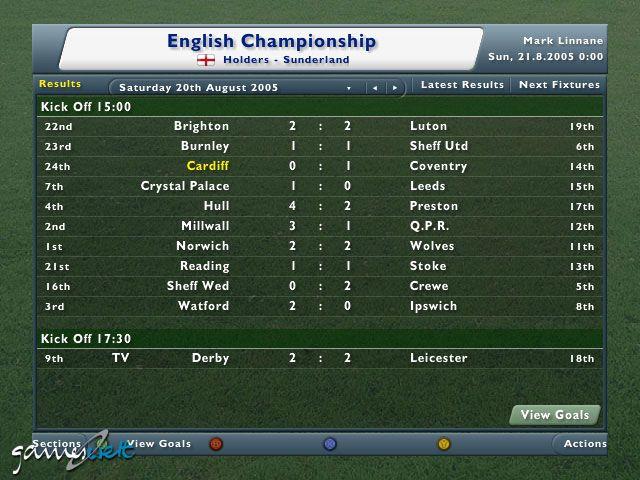 Football Manager 2006  Archiv - Screenshots - Bild 3