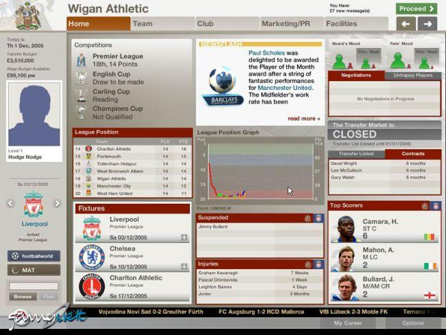 Fussball Manager 06  Archiv - Screenshots - Bild 15