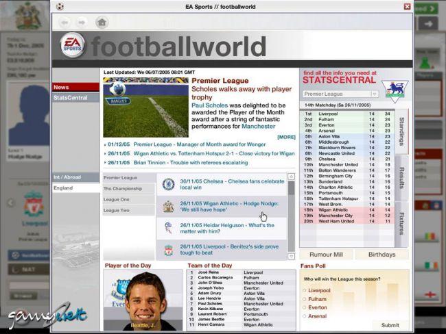 Fussball Manager 06  Archiv - Screenshots - Bild 17