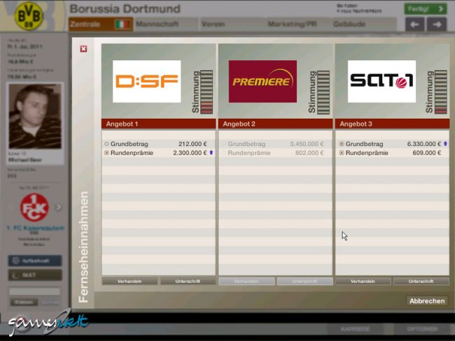 Fussball Manager 06  Archiv - Screenshots - Bild 5