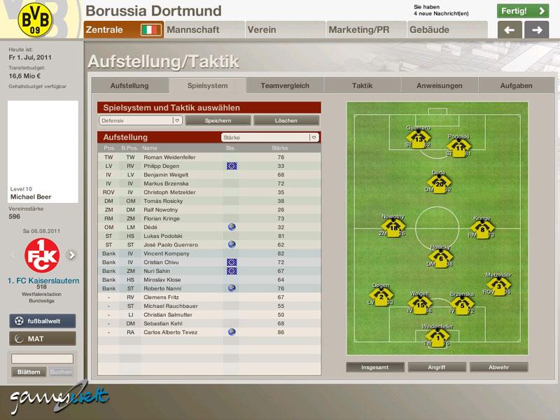 Fussball Manager 06 Screenshots Von Gameswelt
