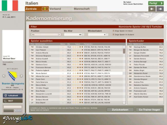 Fussball Manager 06  Archiv - Screenshots - Bild 8