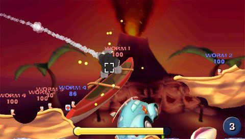 Worms: Open Warfare (PSP)  Archiv - Screenshots - Bild 4