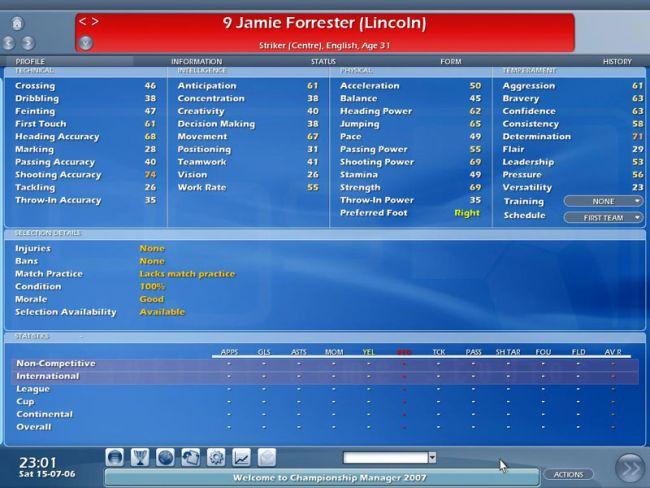 Championship Manager 2007  Archiv - Screenshots - Bild 5