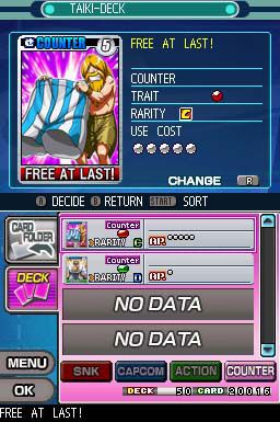 SNK Vs Capcom Card Fighters DS (DS)  Archiv - Screenshots - Bild 3