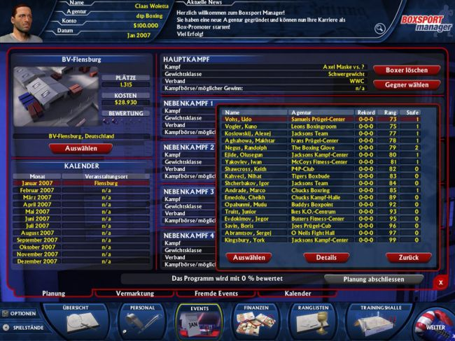 Boxsport Manager  Archiv - Screenshots - Bild 11
