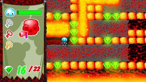 Boulder Dash - Rocks! (PSP)  Archiv - Screenshots - Bild 3