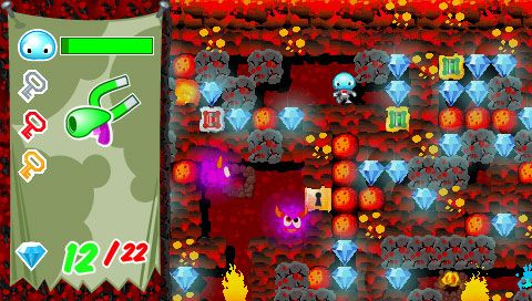Boulder Dash - Rocks! (PSP)  Archiv - Screenshots - Bild 9