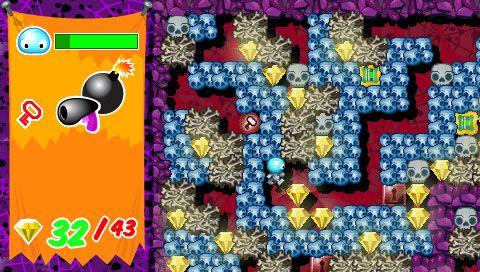 Boulder Dash - Rocks! (PSP)  Archiv - Screenshots - Bild 10