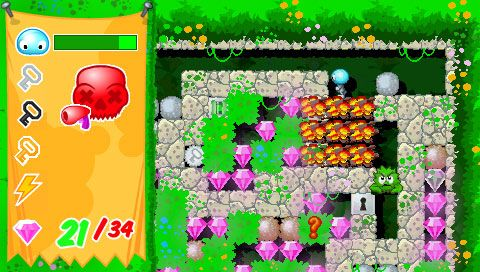 Boulder Dash - Rocks! (PSP)  Archiv - Screenshots - Bild 6
