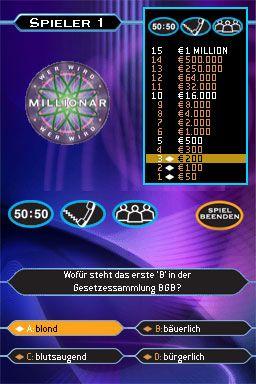 Wer wird Millionär? (DS)  Archiv - Screenshots - Bild 2