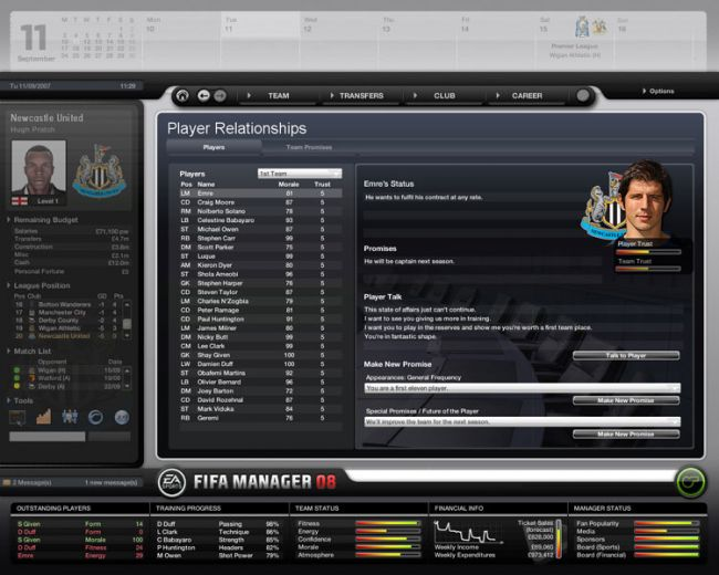 Fussball Manager 08  Archiv - Screenshots - Bild 48