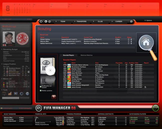 Fussball Manager 08  Archiv - Screenshots - Bild 53