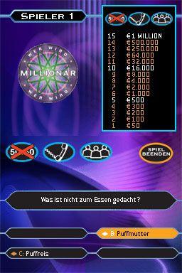 Wer wird Millionär? (DS)  Archiv - Screenshots - Bild 3