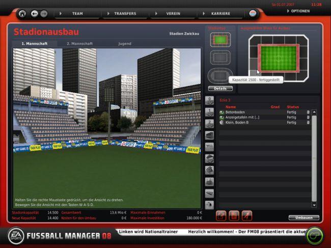 Fussball Manager 08  Archiv - Screenshots - Bild 8