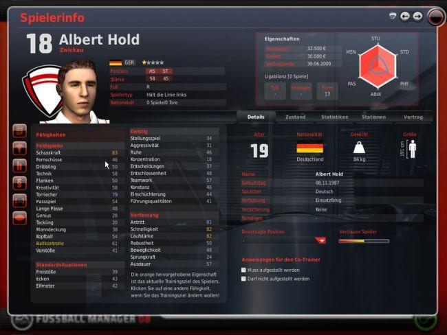 Fussball Manager 08  Archiv - Screenshots - Bild 6