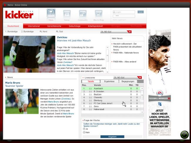 Fussball Manager 08  Archiv - Screenshots - Bild 10