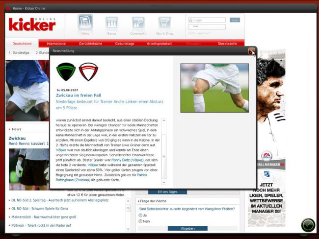 Fussball Manager 08  Archiv - Screenshots - Bild 15