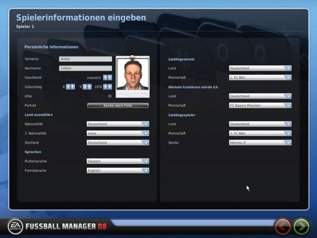 Fussball Manager 08  Archiv - Screenshots - Bild 2