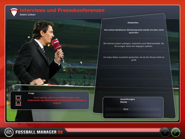 Fussball Manager 08  Archiv - Screenshots - Bild 13