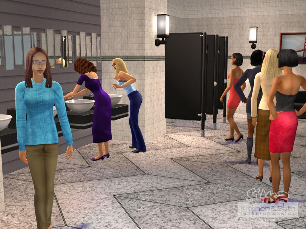 die sims 2: küchen- und bad-einrichtungs-accessoires, Badezimmer ideen