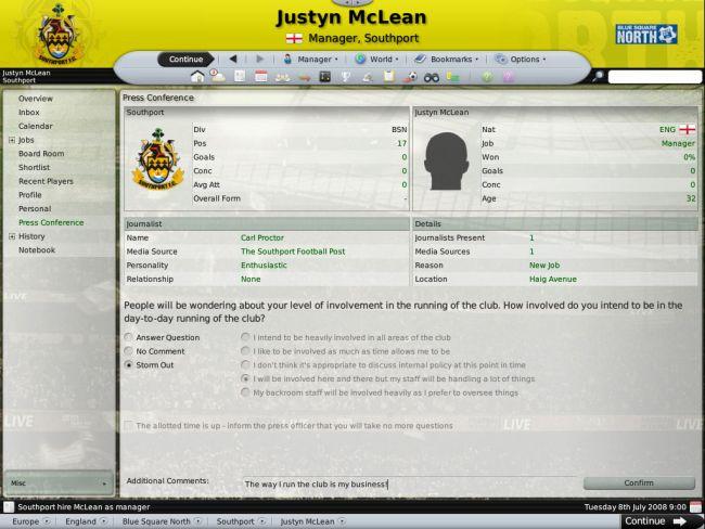 Football Manager 2009 - Screenshots - Bild 14