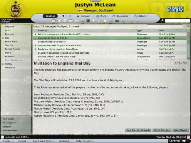Football Manager 2009 - Screenshots - Bild 17