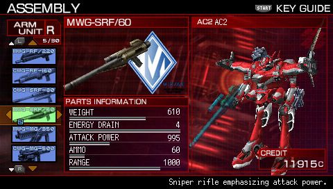 Armored Core 3 Portable - Screenshots - Bild 3