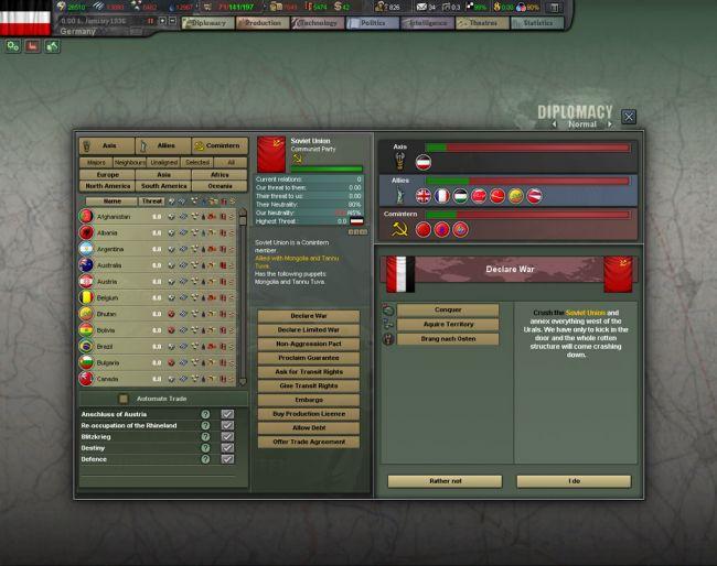 Hearts of Iron III: For the Motherland - Screenshots - Bild 6