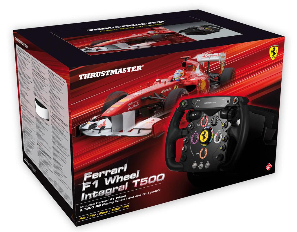 thrustmaster ferrari f1 wheel integral t500 fahren wie im. Black Bedroom Furniture Sets. Home Design Ideas