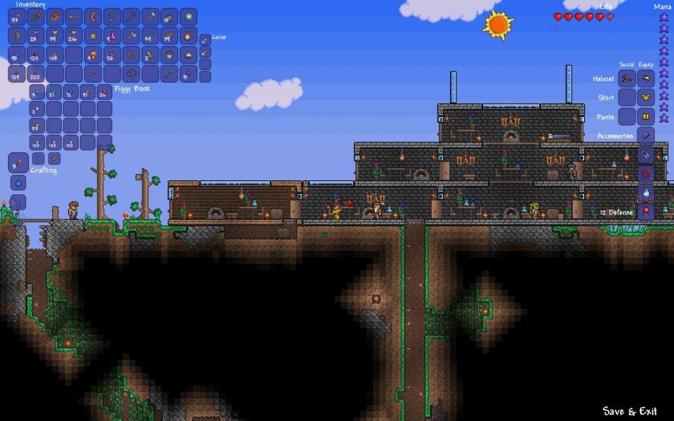 Terraria Open World Für Fortgeschrittene Seite Test Von Gameswelt - Minecraft terraria spielen