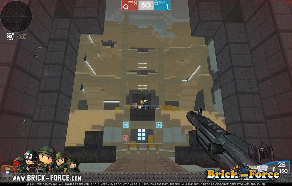 BrickForce Minecraft Und Ballern Seite Preview Von Gameswelt - Minecraft shooter spiele